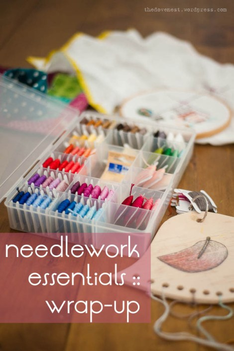 needlework essentials series wrap up