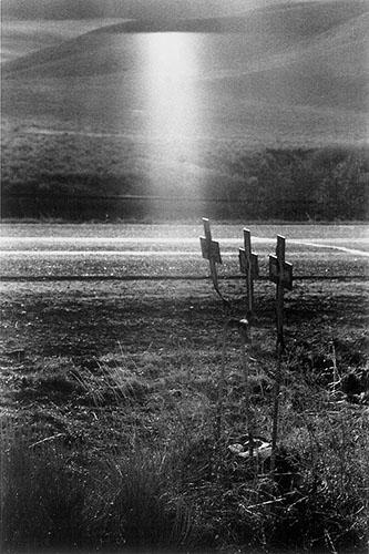 Crosses at Scene of highway accident, U.S. 91, Idaho