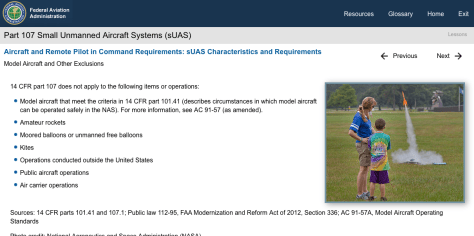 part 107 uas training course faa drone