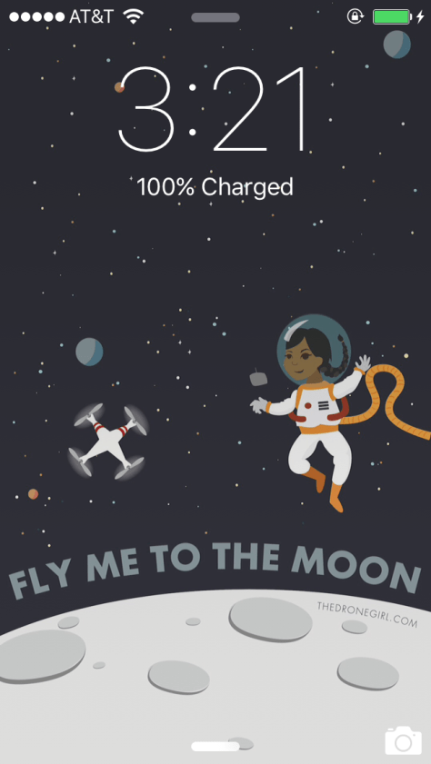 Drone Girl Fly Me To The Moon