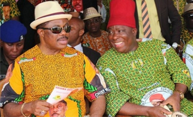 Obiano and Umeh at an APGA event