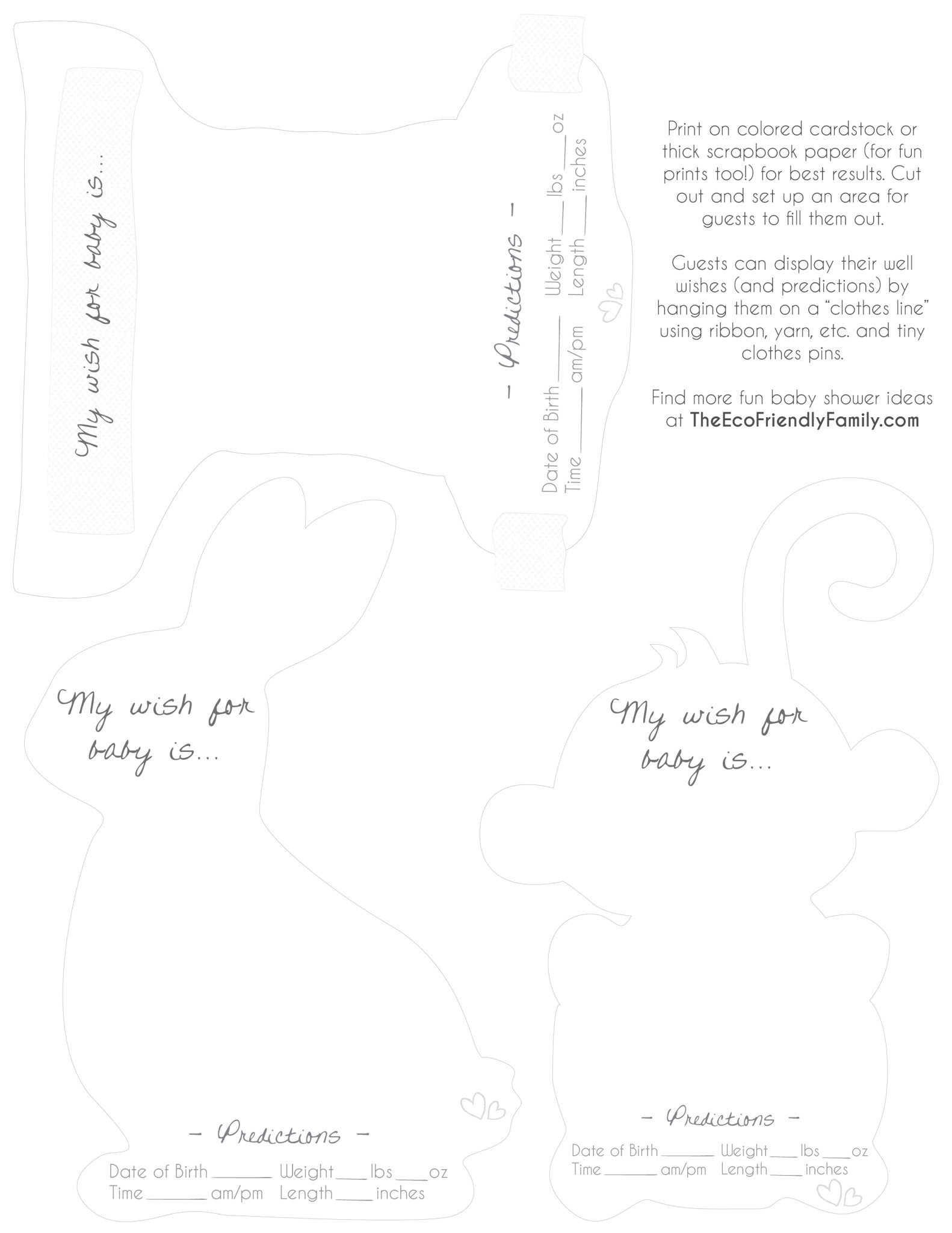 Grande Print This Template Pdf File Monkey Are Onquality Card If You Have Trouble Accessing You Can Download Fresh Approach To An Eco Friendly Baby Shower baby shower Baby Shower Wishes