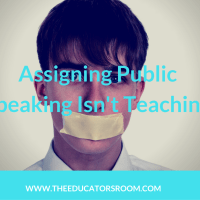 Assigning Public Speaking Isn't Teaching