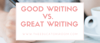 Good writingvs. Great writing