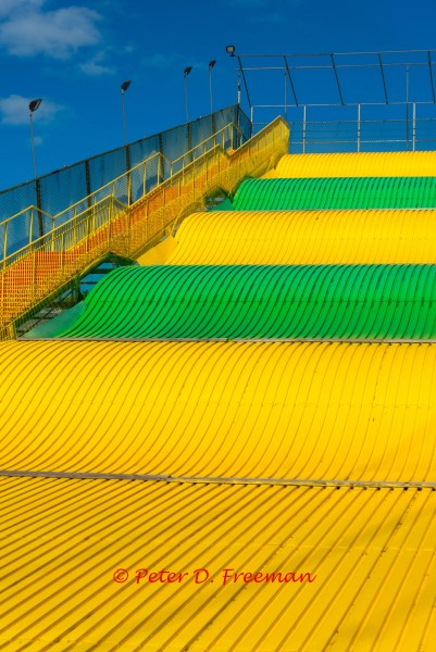 Yellow and Green Waves