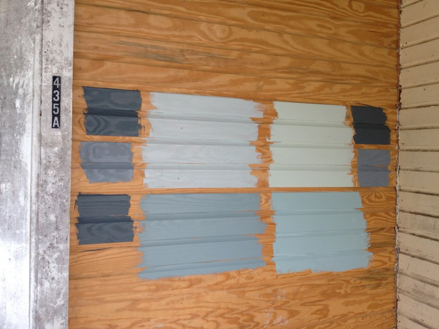 grout paint sample porch