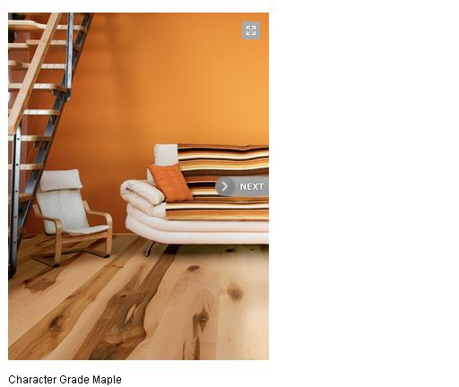 character grade maple floor