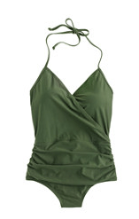 jcrew green swim suit