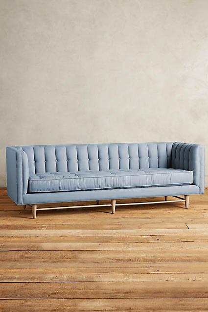 Anthropologie Maryn Sofa in Pool Blue