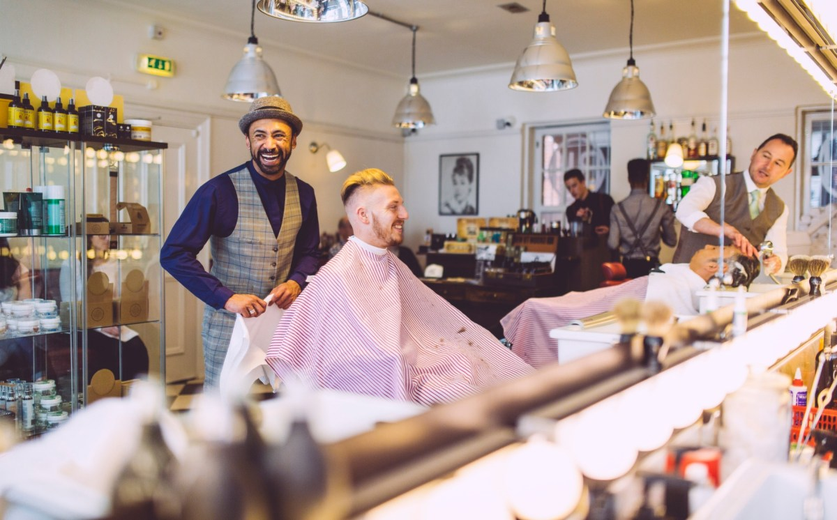 The barbers bond. How much trust do you place in yours?