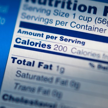 Serving size on food label holds a key to weight control.