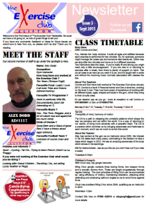 The Exercise Club Clifton Bristol Newsletter September 2015