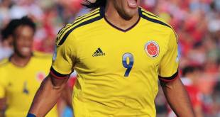 Colombian forward Radamel Falcao celebrates after scoring during a Brazil 2014 World Cup South American qualifier match at the Estadio Monumental in Santiago on September 11, 2012. AFP PHOTO / CLAUDIO SANTANA