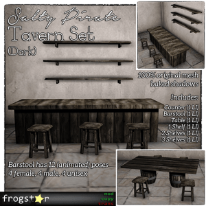Frogstar - Salty Pirate Tavern Set Poster (Dark)