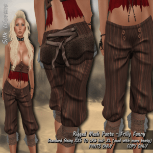 Silk-Worms-Frilly-Fanny-Pirate-Pants-brown