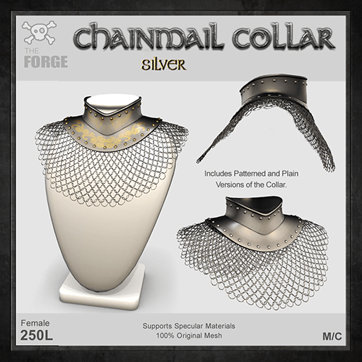 Forge-Chainmail-Collar-Silver