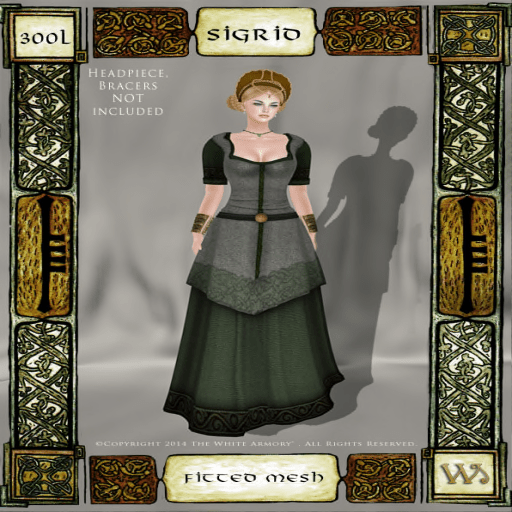 Norse-Marshes-Fitted-Mesh-Gown-Set-Sigrid