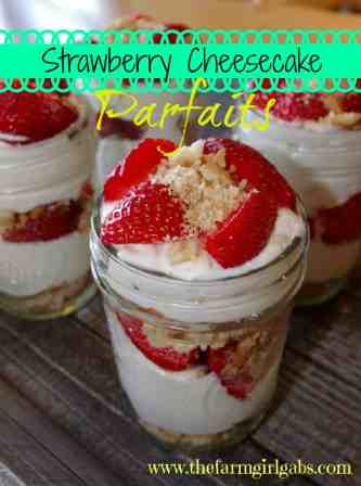 strawberry cheesecake parfait