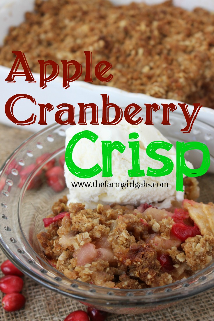 Apple Cranberry Crisp from www.thefarmgirlgabs.com