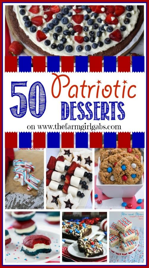 50 Patriotic Desserts on www.thefarmgirlgabs.com .