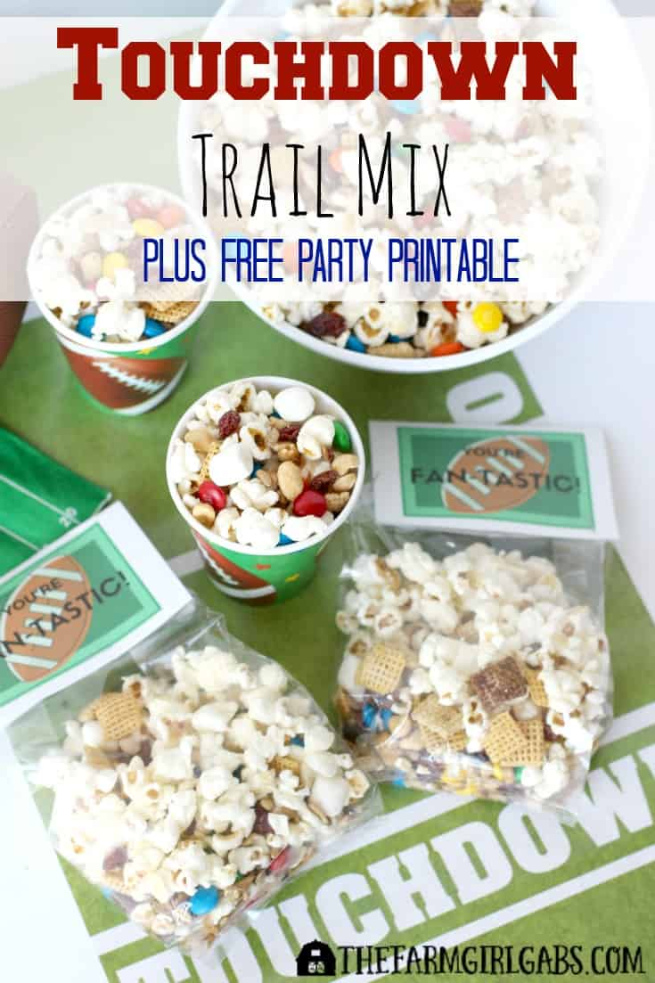How do you Bring The Boom to your game day party? This Touchdown Trail Mix featuring BOOMCHICKAPOP is a perfect way to cheer on your favorite team!