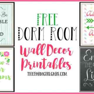 These free Dorm Room Wall Decor printables are the perfect way to accessorize your teen's dorm room on a budget. #BTSWithHP #Ad
