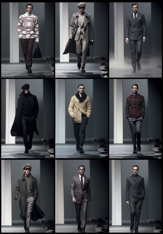 Corneliani collection from THE SWANK FW13 Mens' Runway