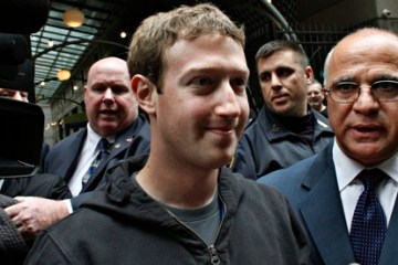 Mark Zuckerberg: CEO in a hoodie. Photograph: Eduardo Munoz/Reuters