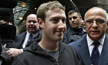 Mark Zuckerberg: CEO in a hoodie. Photograph: Eduardo Munoz/Reuters