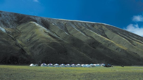 A camp area at Qinghai Dulan International Hunting Ground, Qinghai Province