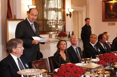 Chivas Brothers CEO Christian Porta speaks at lunch in the Tower of London