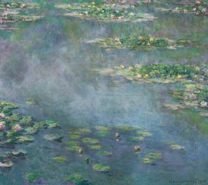 "Painted in 1906 by Claude Monet and consigned by an anonymous collector, ""Nympheas"""
