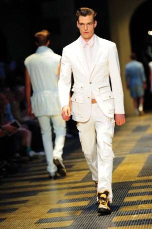 A look from Versace's 2013 SS men's collection
