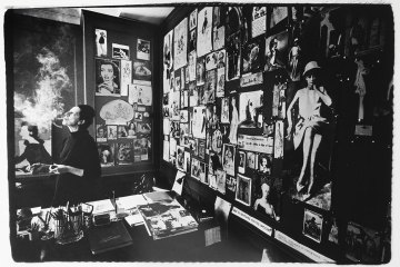 Diana Vreeland in her office at Vogue, by James Karales. Courtesy of the James Karales Estate