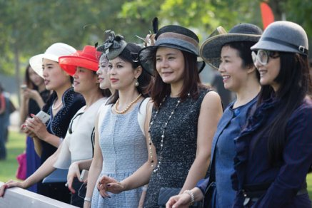 Spectators at the 2014 China Open Polo Tournament