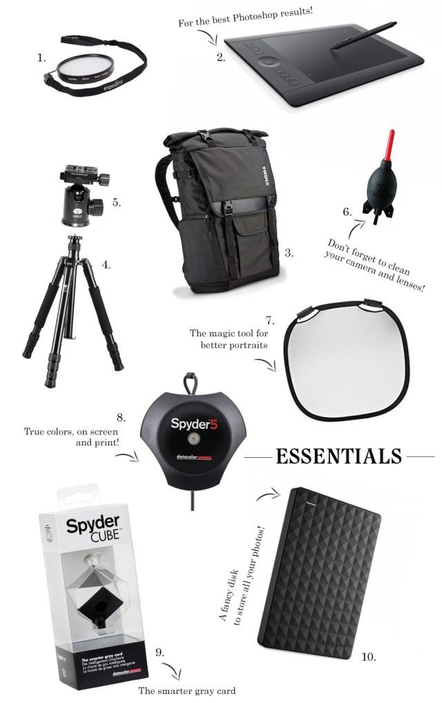 photography gear essentials