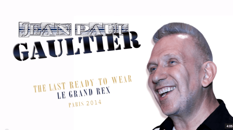 JEAN-PAUL GAULTIER:  A Farewell to Ready-to-Wear (October 2014)