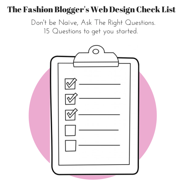 Fashion Blogger Web Design Check List