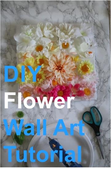 diy floral flower wall art canvas print flowers