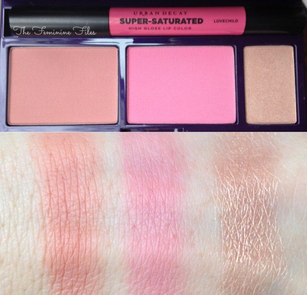 Urban Decay Shattered Face Case Blush Swatches