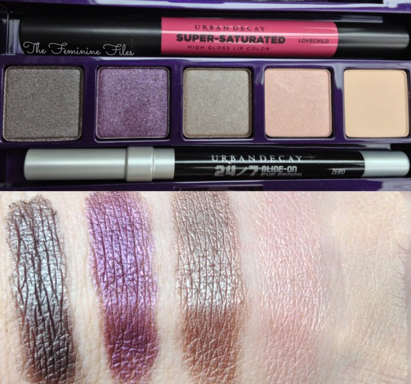 Urban Decay Shattered Face Case Eyeshadow Swatches