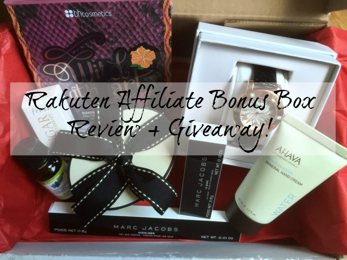 Rakuten Affiliate Bonus Box Review + Giveaway!