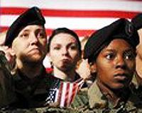 three military women
