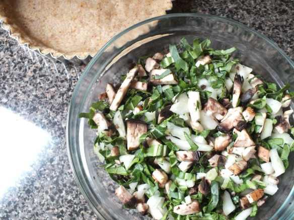 Bok Choy and Mushroom Tart