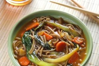 Healthy Asian Soba Noodle Soup