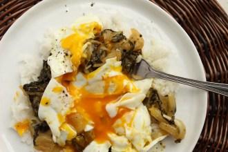 Honey-Lemon Bok Choy with Basmati Rice and Eggs