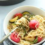 Vegan Garlic Lemon Spring Pasta