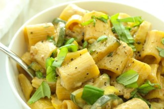 Vegan Rigatoni with Corn and Zucchini-2