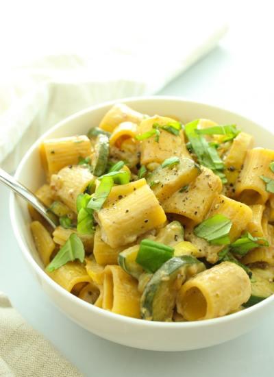 Vegan Rigatoni with Corn and Zucchini-2