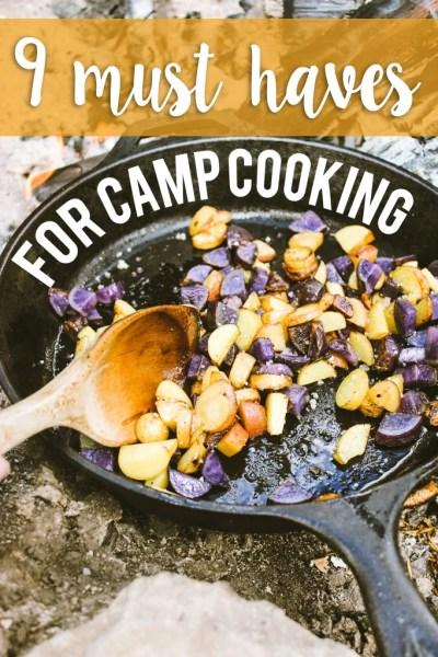 9 essentials for camp cooking – great list of inexpensive tools for making awesome camp food.